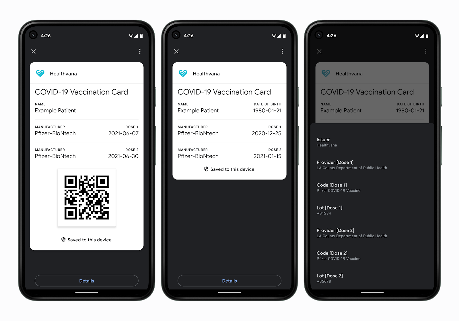 Google Pay covid vaccination card