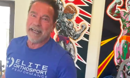 At 74, Arnold Schwarzenegger makes lifting hundreds of pounds look easy: 'I did it!'
