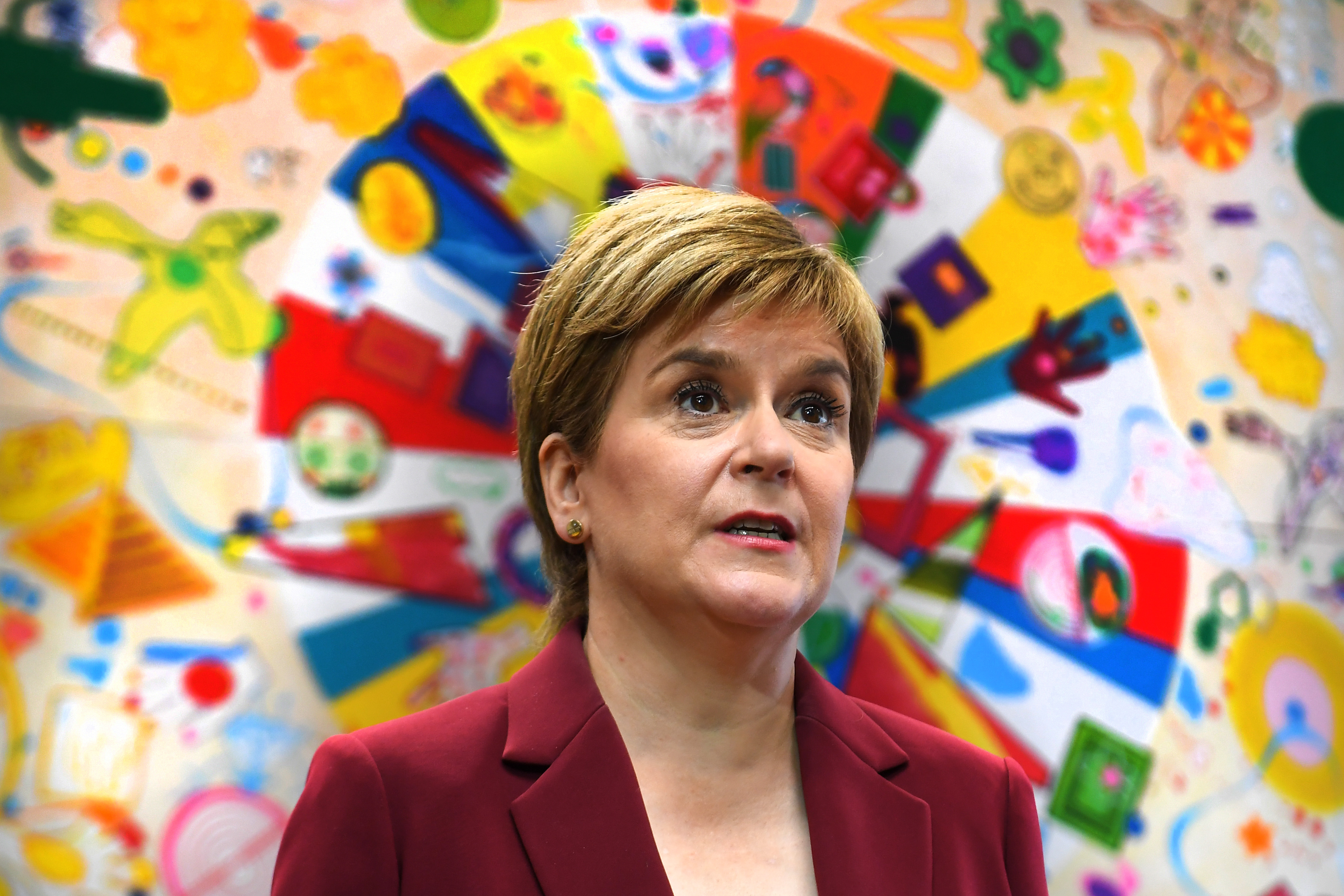 <p>First Minister Nicola Sturgeon during a visit to the Connect Community Trust's Connie Centre in Glasgow. Picture date: Wednesday July 28, 2021.</p>