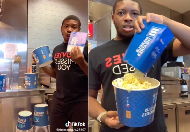 Cinema worker shows 'popcorn scam' in viral TikTok clip