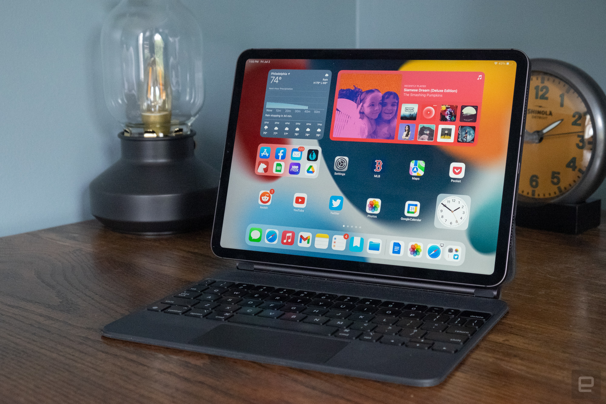 iPad Pro with iPadOS 15 beta