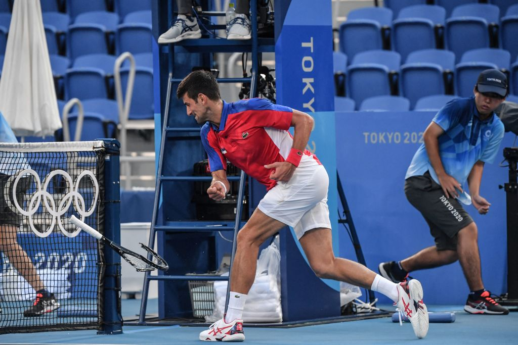 Djokovic caps awful Olympics by murdering a couple rackets in bronze medal loss