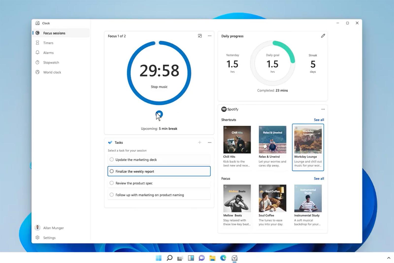 Windows 11 焦點會議