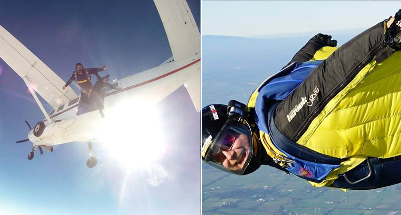 Skydiving instructor saves passenger's life after parachutes fail