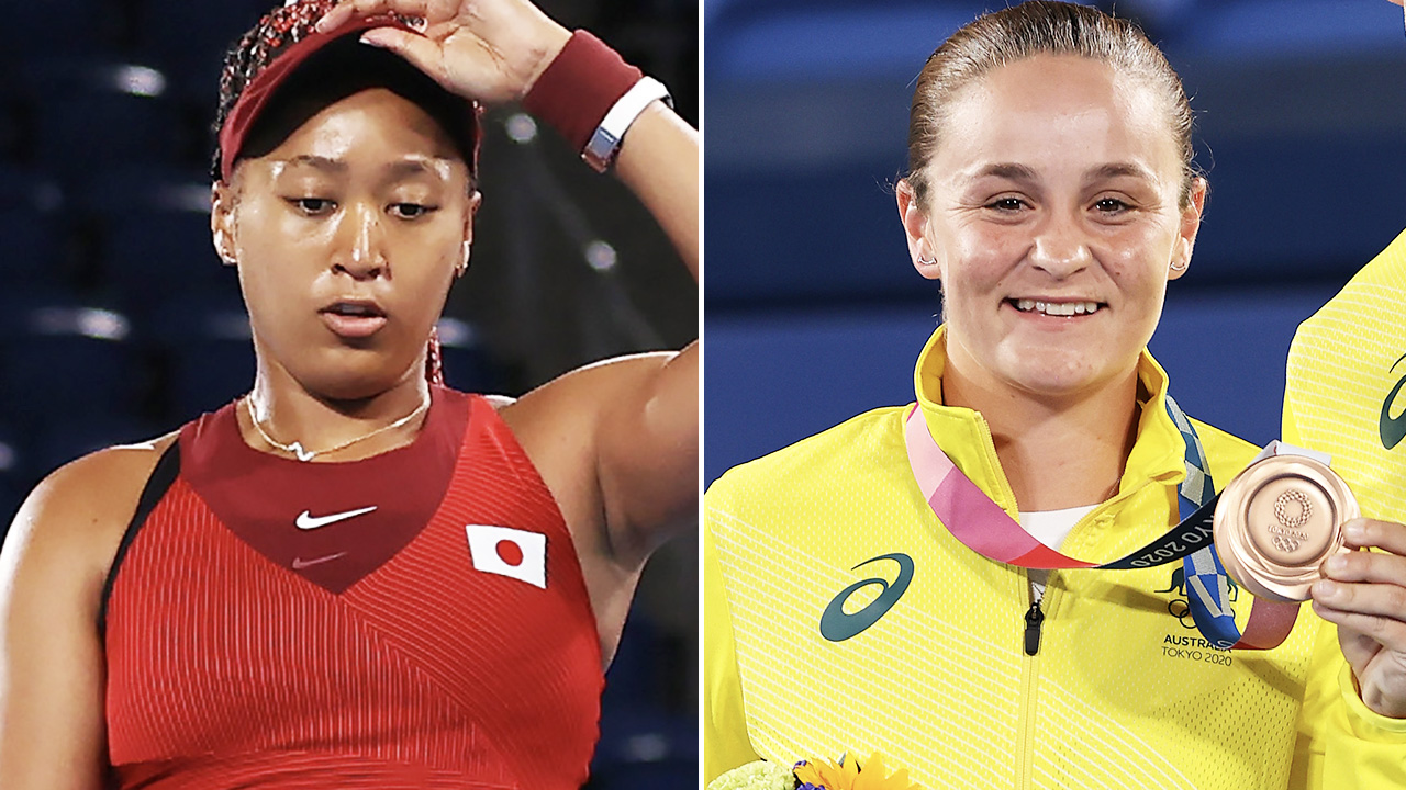 Tennis fans saddened by Ash Barty and Naomi Osaka news after Olympics