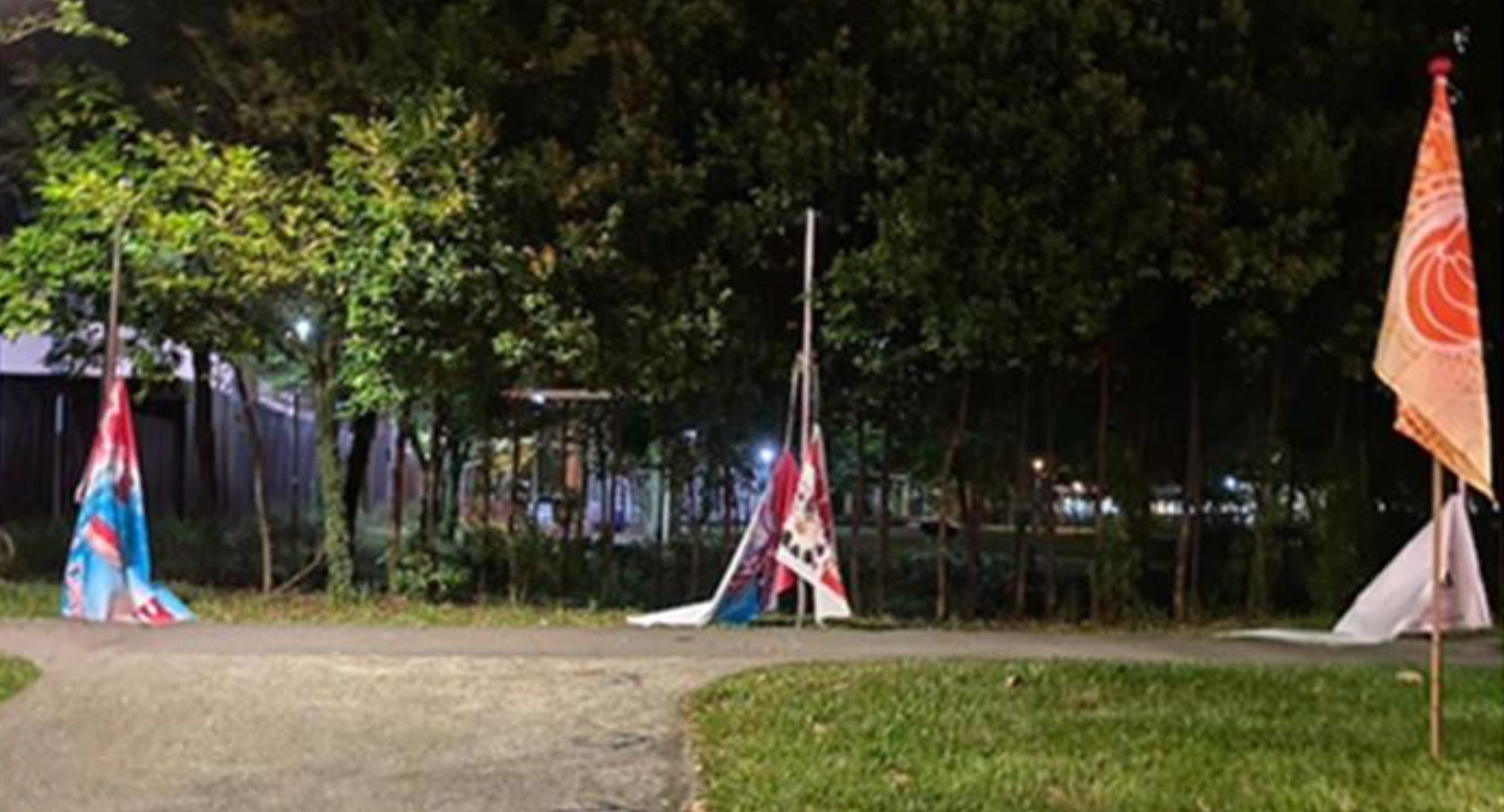 Man charged with cutting and damaging National Day Parade banners