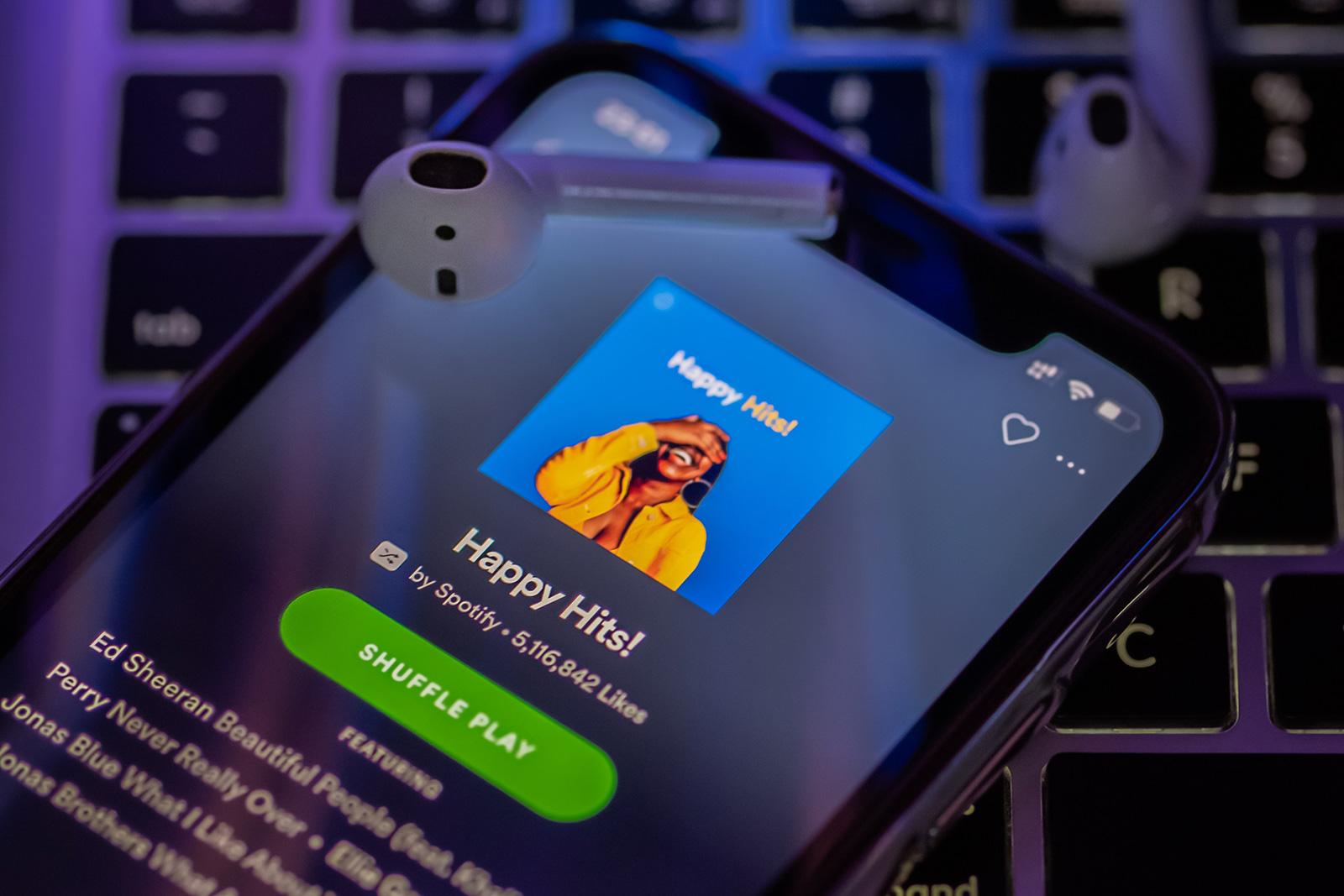 iOS 上的 Spotify