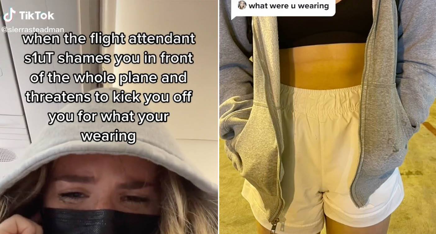 Woman in tears after being 'shamed' by flight attendant over outfit