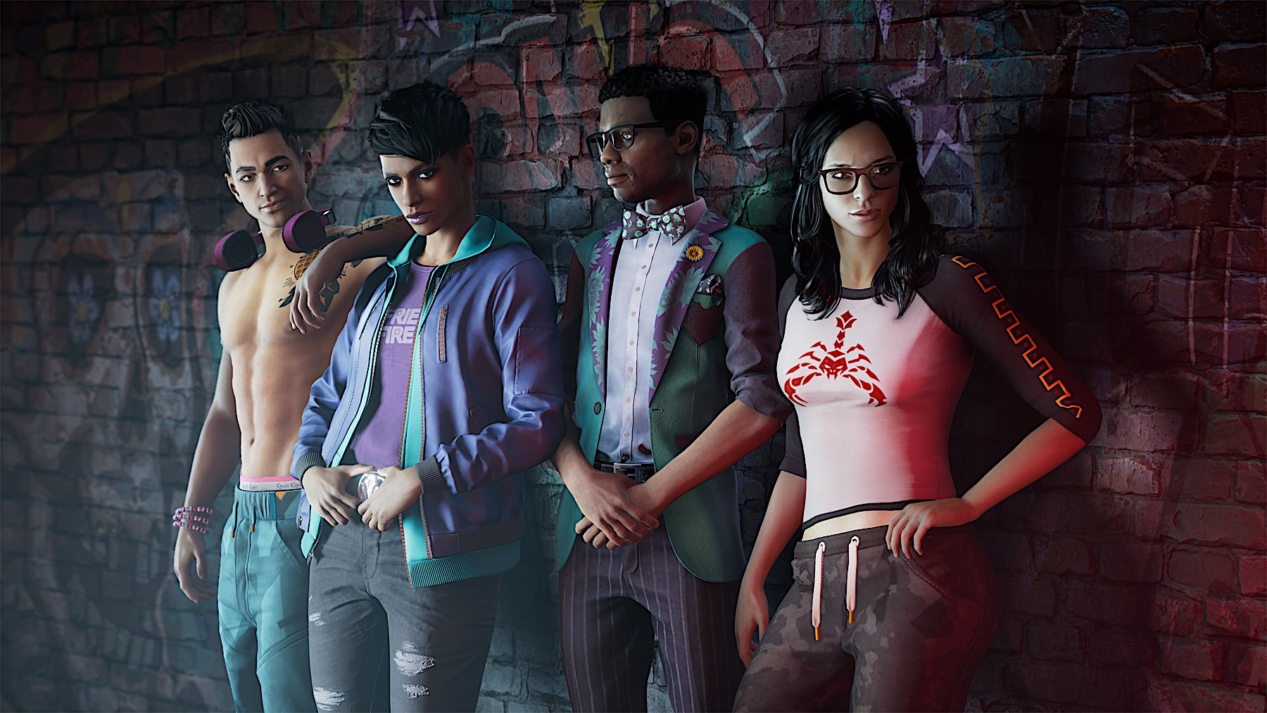 Images of the Saints Row cast