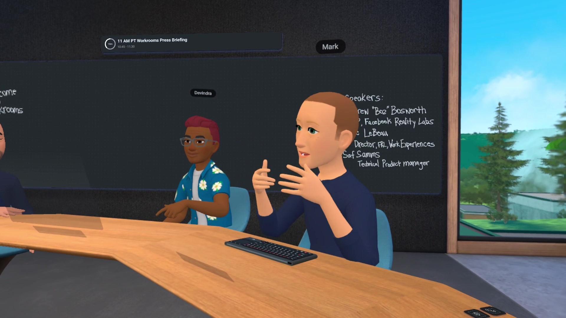 <p>Facebook Horizon Workrooms</p>