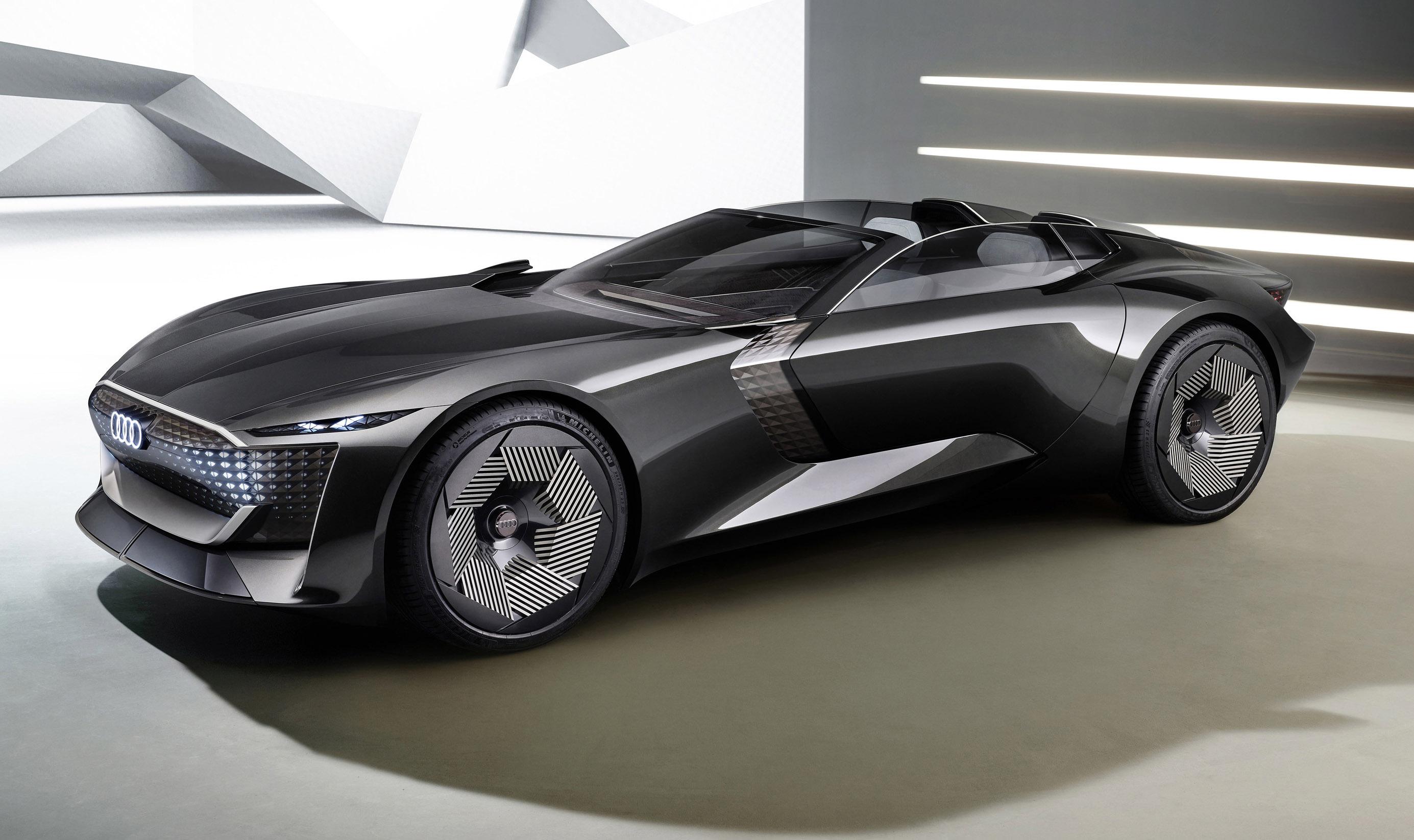 Audi's Skysphere concept EV roadster can transform into a grand tourer