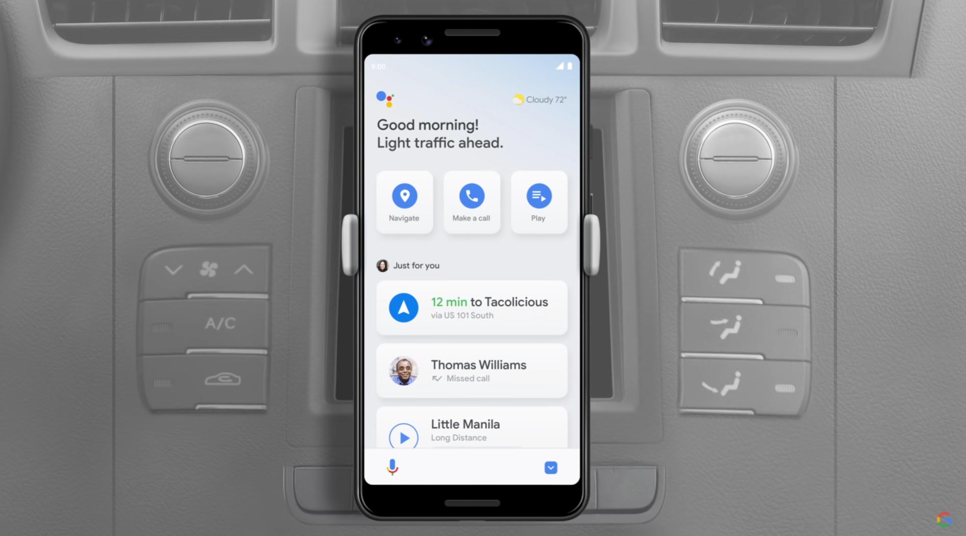 谷歌助手駕駛模式