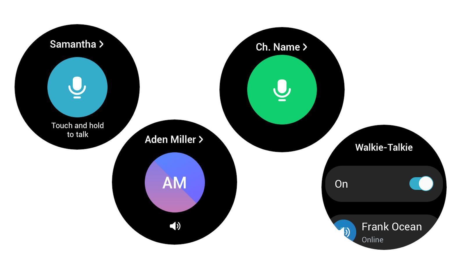 Samsung walkie talkie app