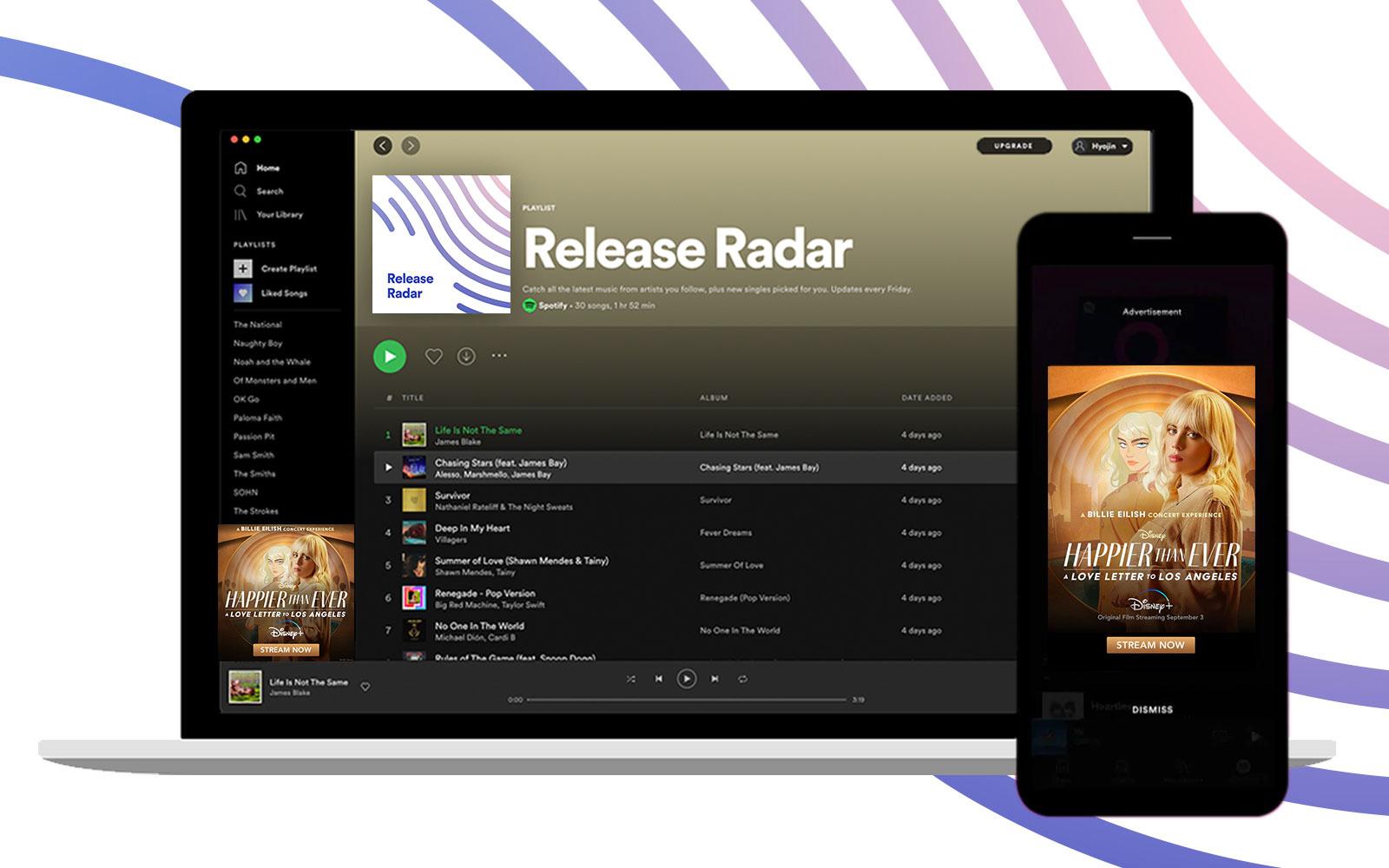 Spotify, Disney+ ile başlayarak marka sponsorlukları için Release Radar'ı açıyor | Engadget