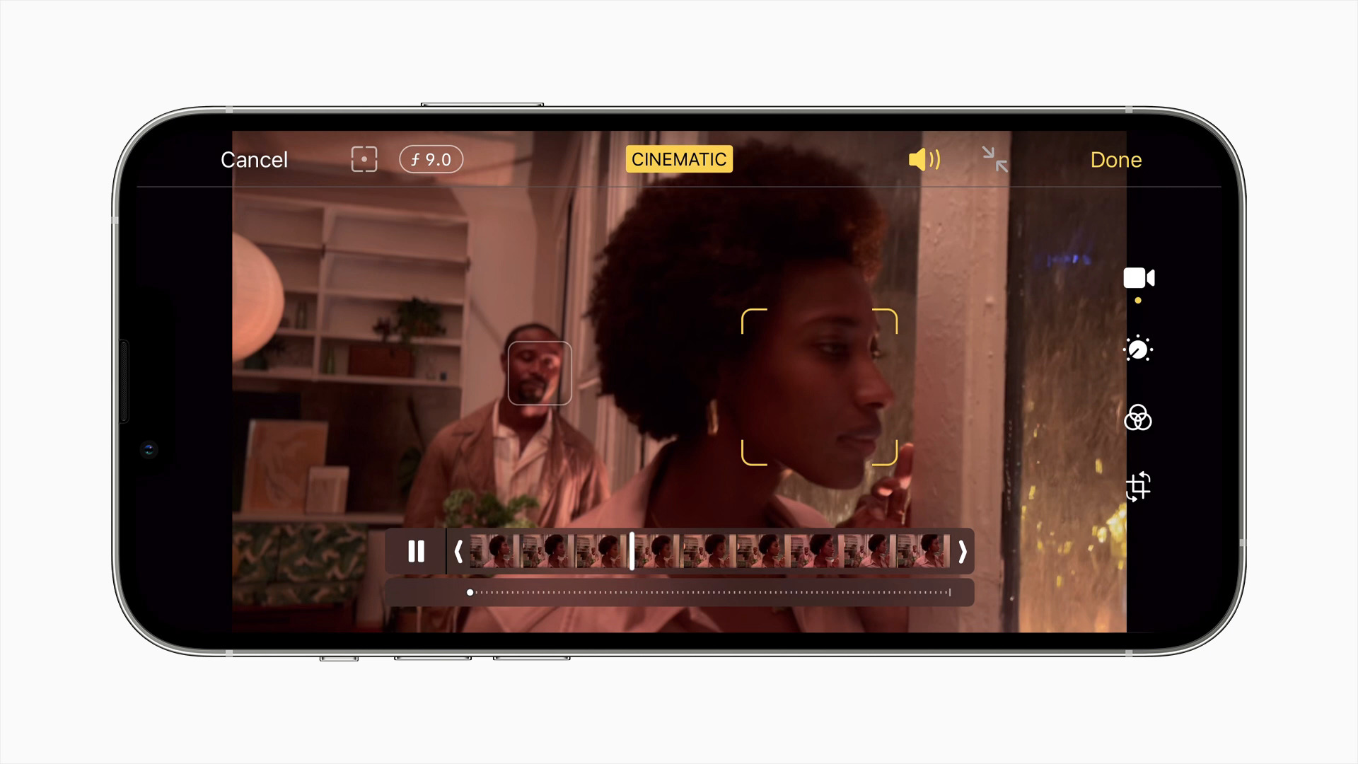iPhone 13's cinematic mode