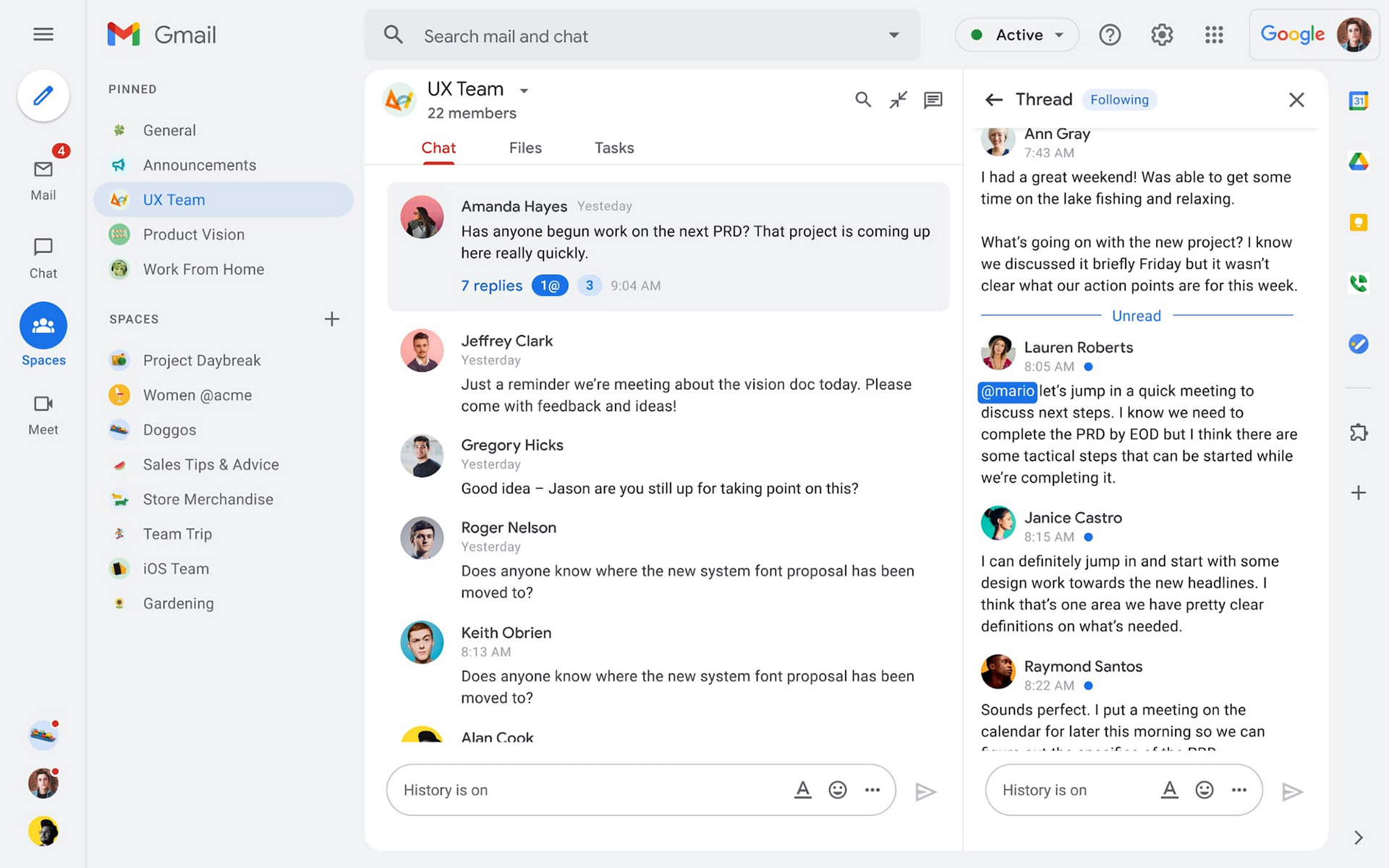 Gmail redesign 2021