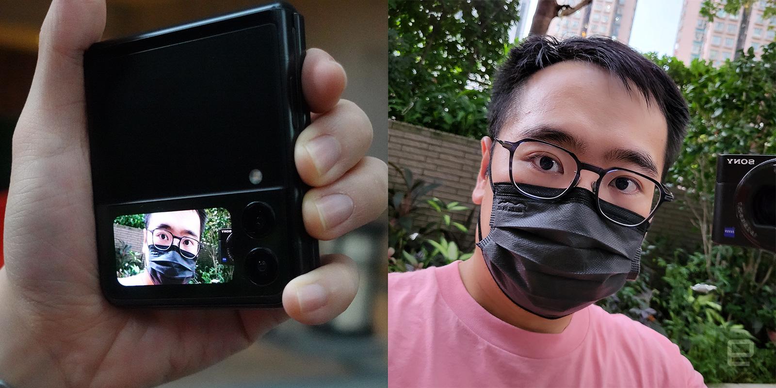 Samsung Galaxy Z Flip 3 外螢幕自拍