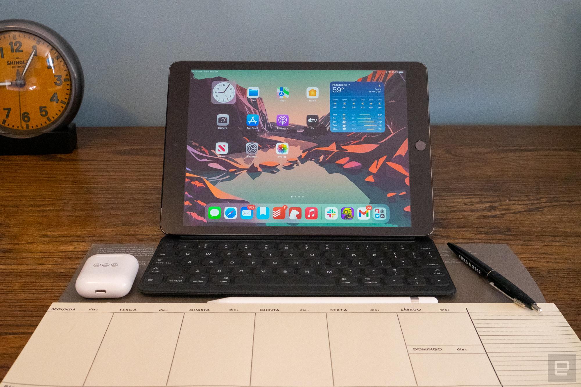 <p>Apple iPad (2021) review photos</p>