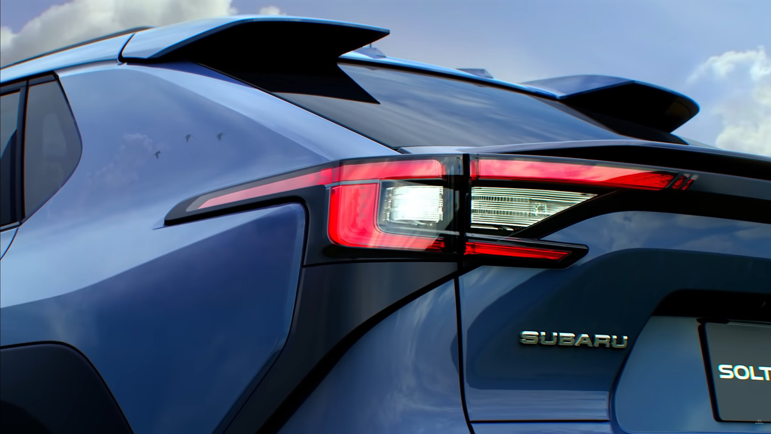 Subaru shows the first teaser video of its Solterra EV