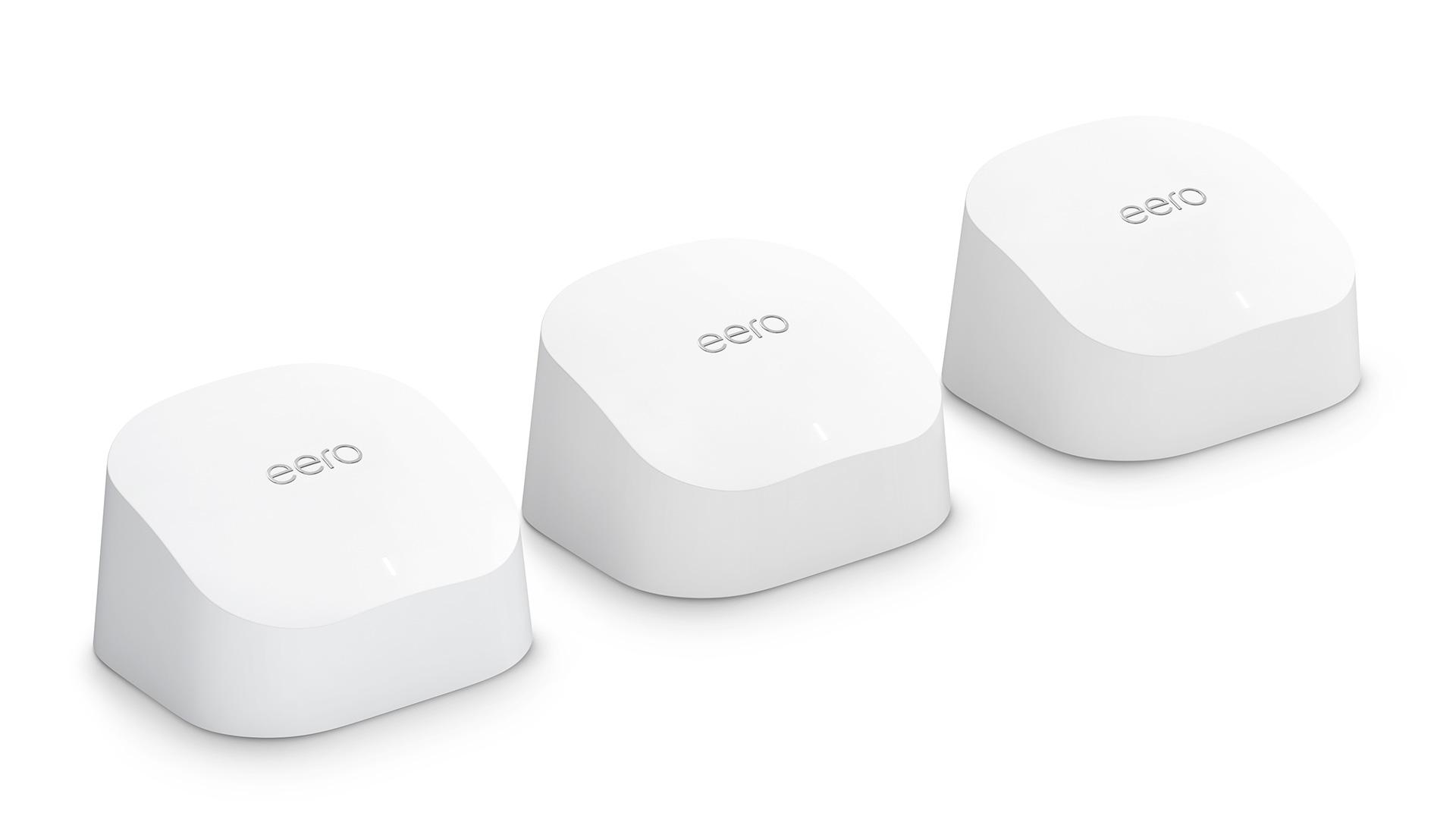Amazon Eero 6 WiFi mesh router 3 pack