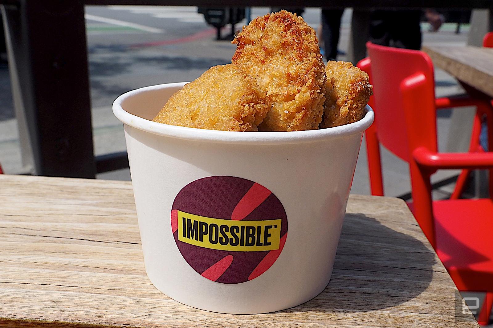 Impossible'ın bitki bazlı külçeleri artık seçkin restoranlarda | Engadget