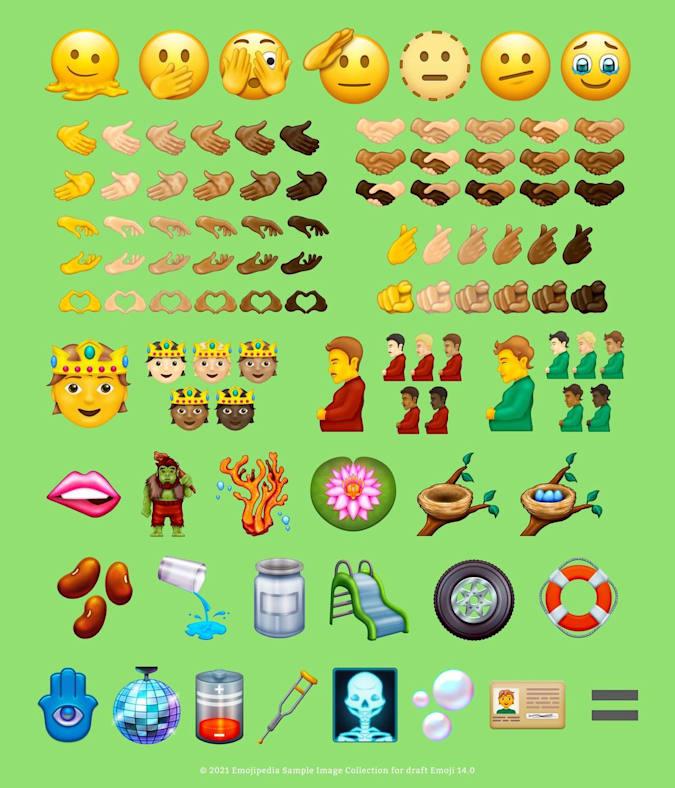 Unicode 14.0 emoji