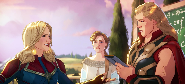 Captain Marvel, Frigga and Thor