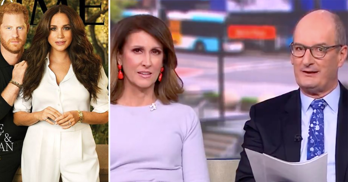 Sunrise hosts lay into Harry and Meghan's Time 100 cover: 'Doesn't look real'