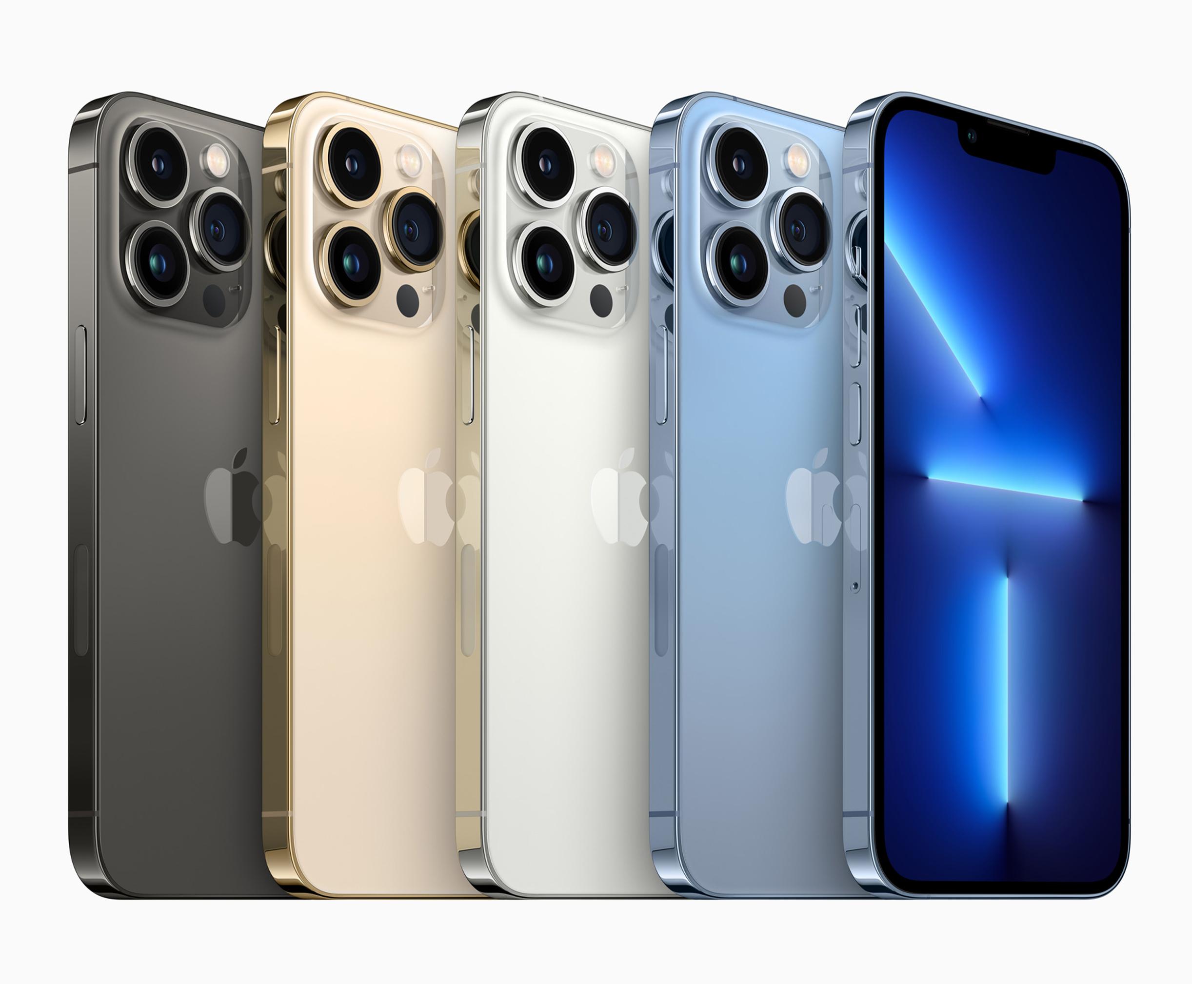 <p>Apple's new iPhone 13 Pro series</p>