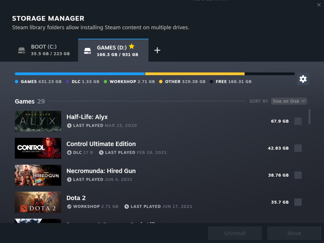 Steam Update