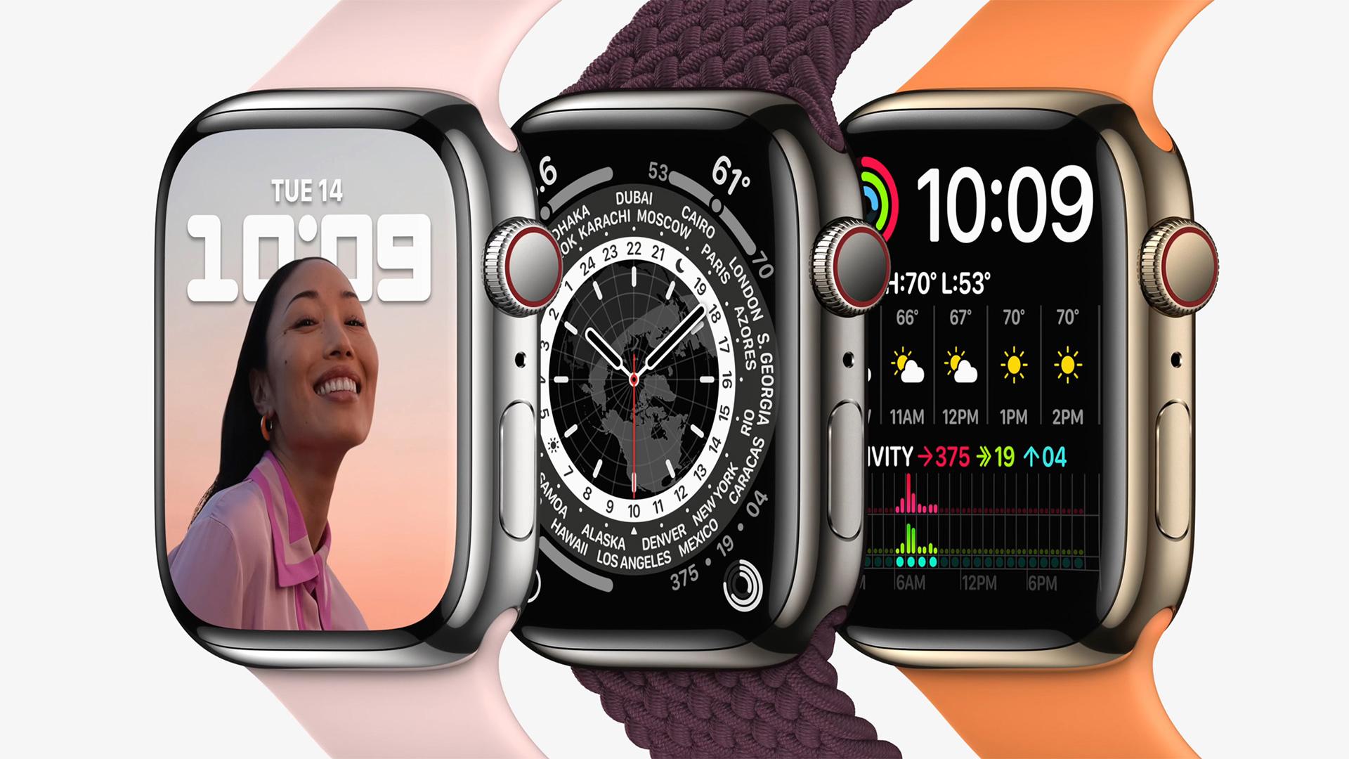 Apple Watch Series 7 in steel