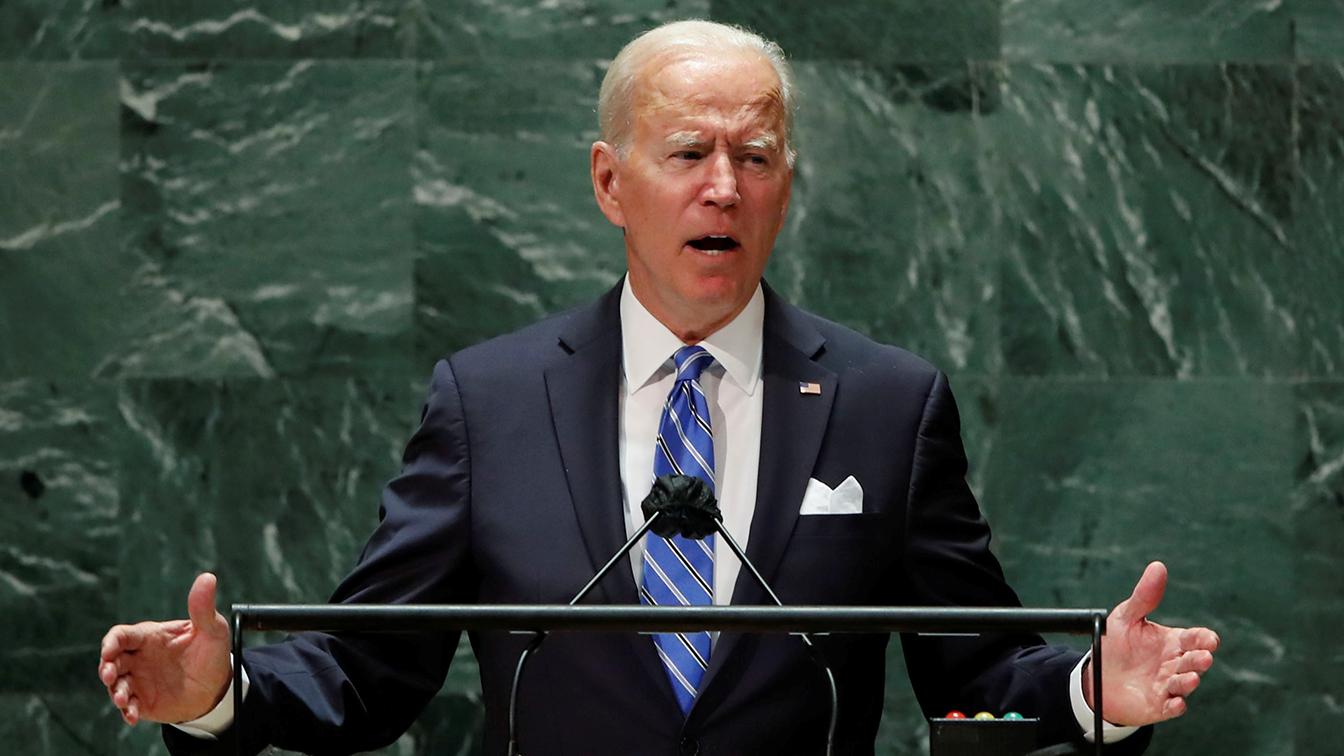 Biden ties his domestic agenda to global goals