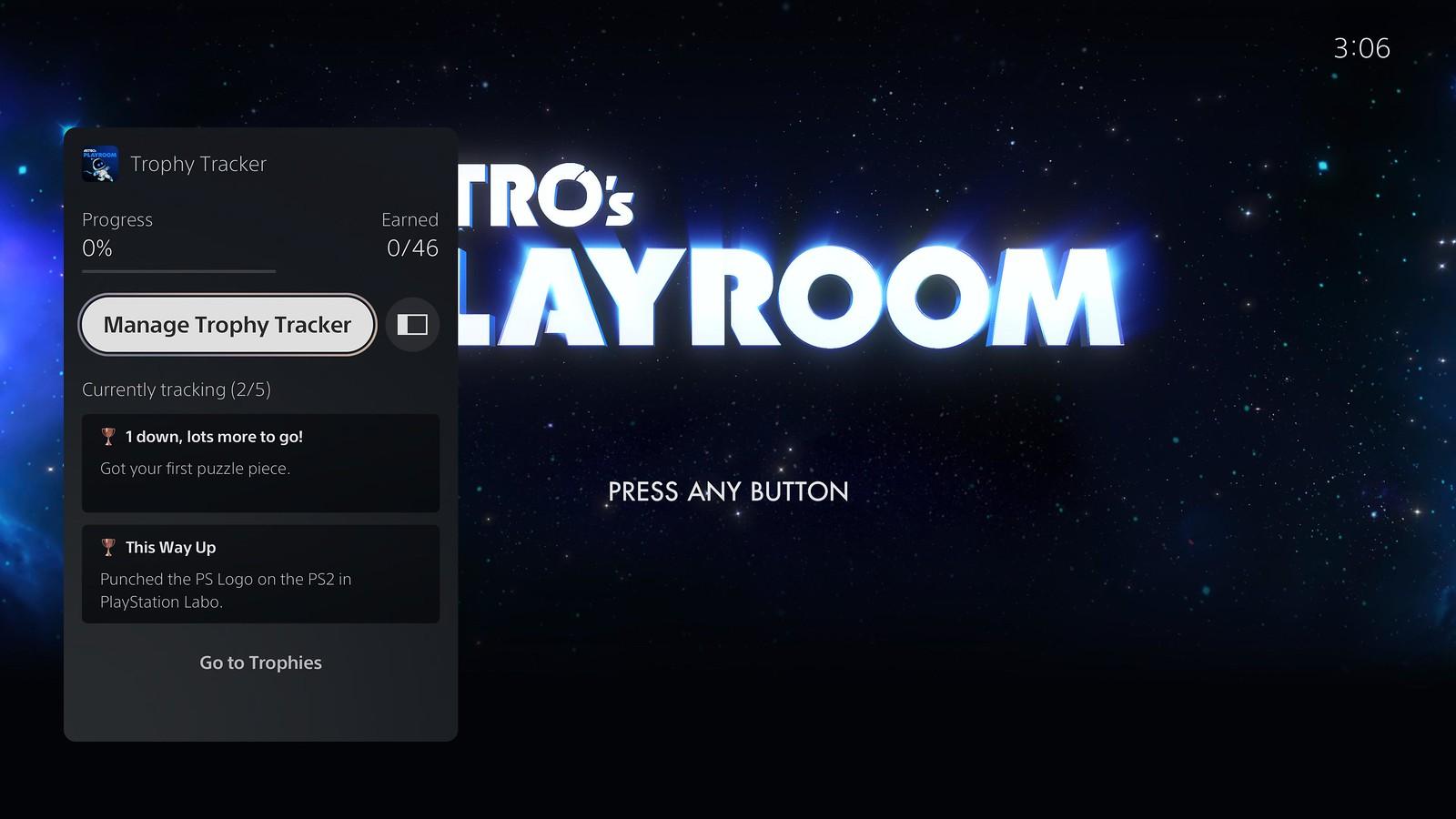 PlayStation 5 trophy tracker