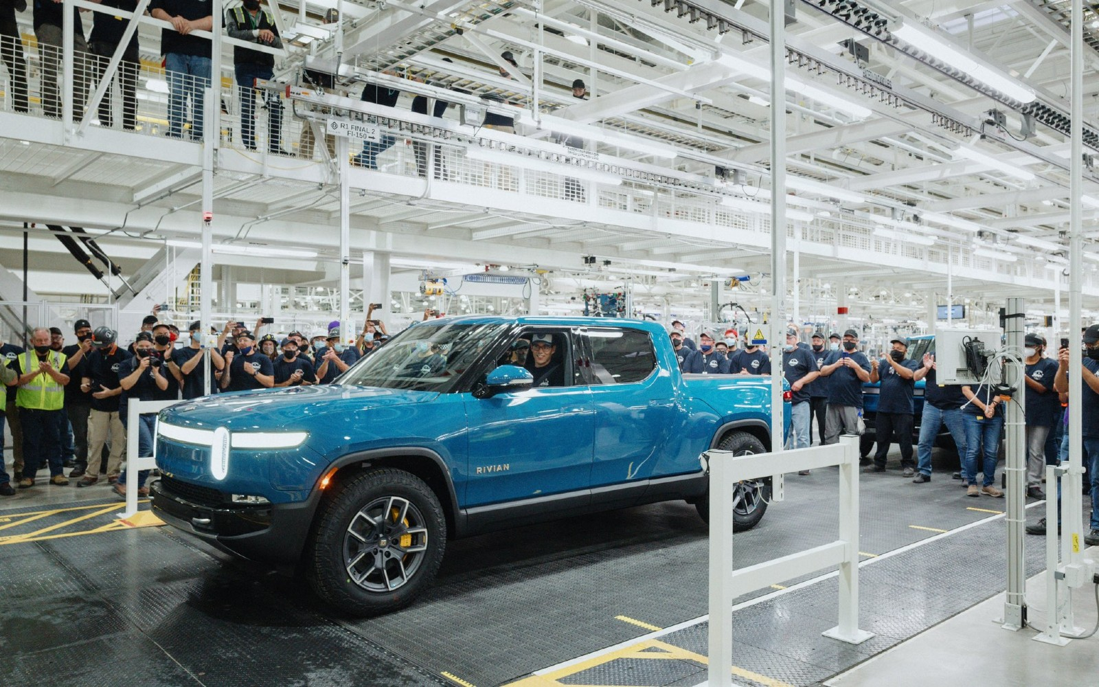 photo of Rivian starts building R1T electric trucks for customers image