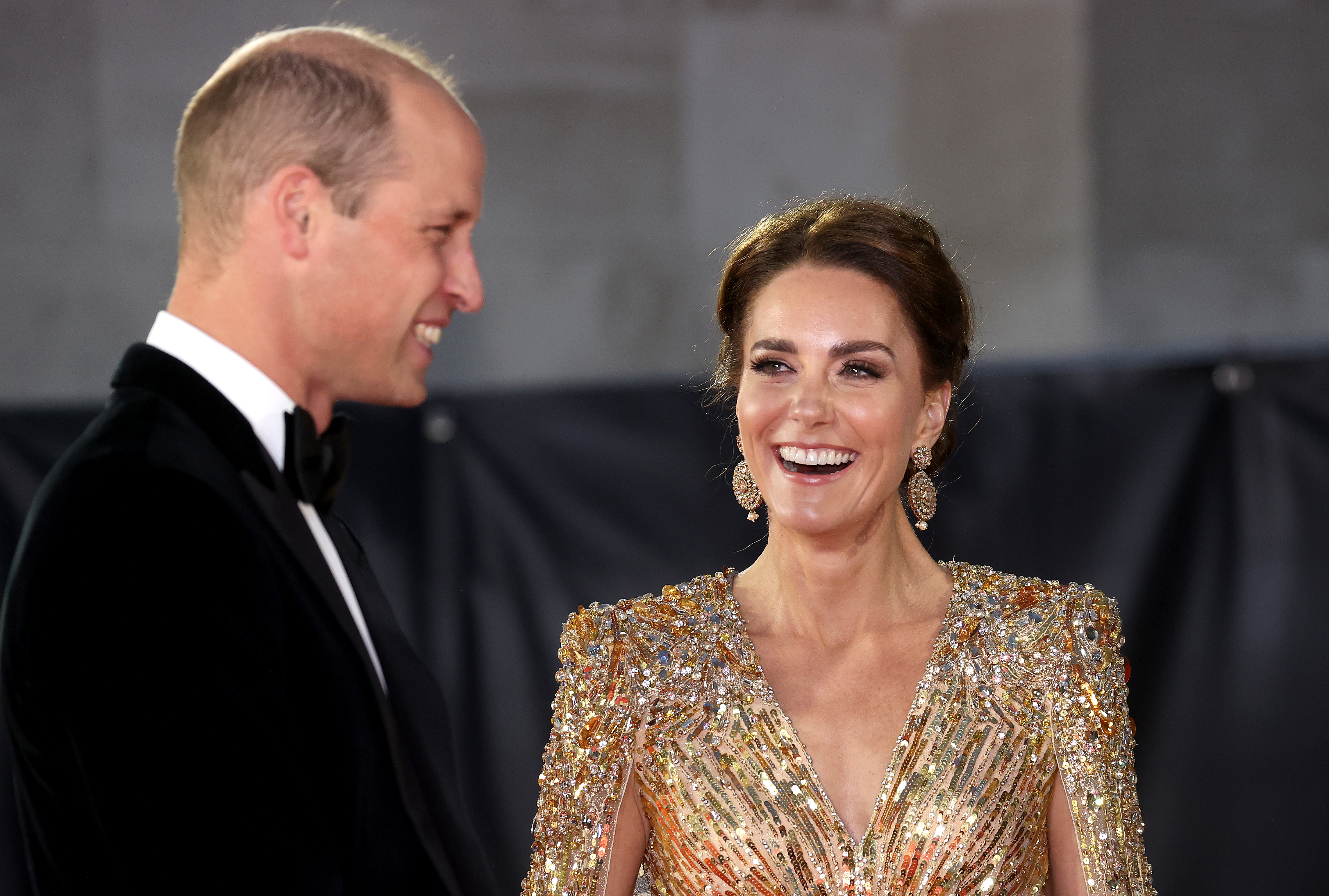 """<p>LONDON, ENGLAND - SEPTEMBER 28: Catherine, Duchess of Cambridge attends the """"No Time To Die"""" World Premiere at Royal Albert Hall on September 28, 2021 in London, England. (Photo by Chris Jackson/Getty Images)</p>"""