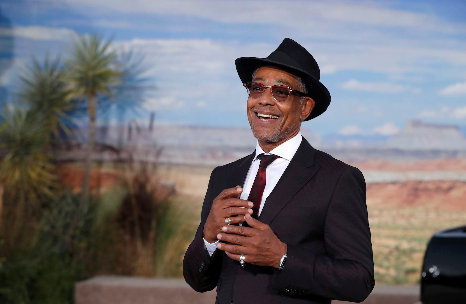 Actor Giancarlo Esposito poses at the premiere for