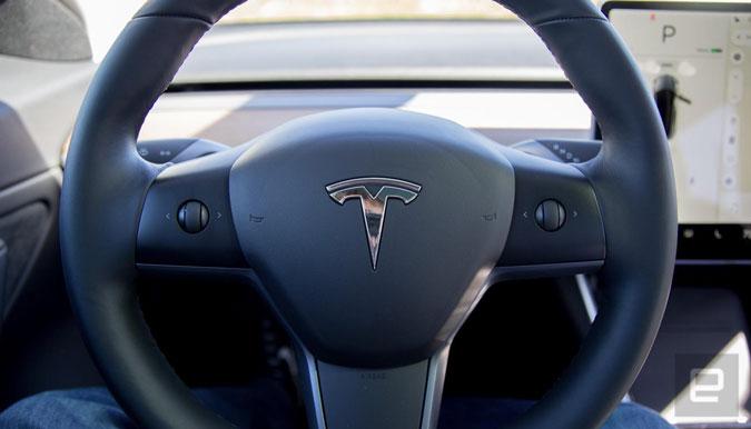 Image of Tesla Model 3 Steering Wheel