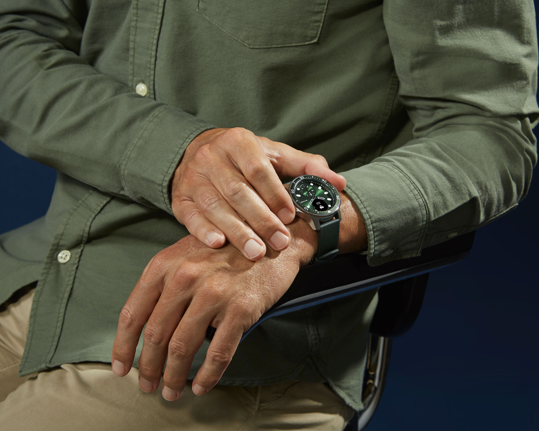 Image of the Withings ScanWatch Horizon in Green