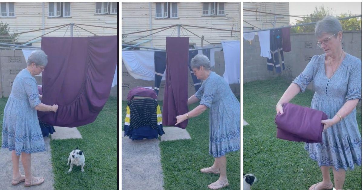Woman's fitted sheet folding hack stuns on TikTok: 'Mind blown'