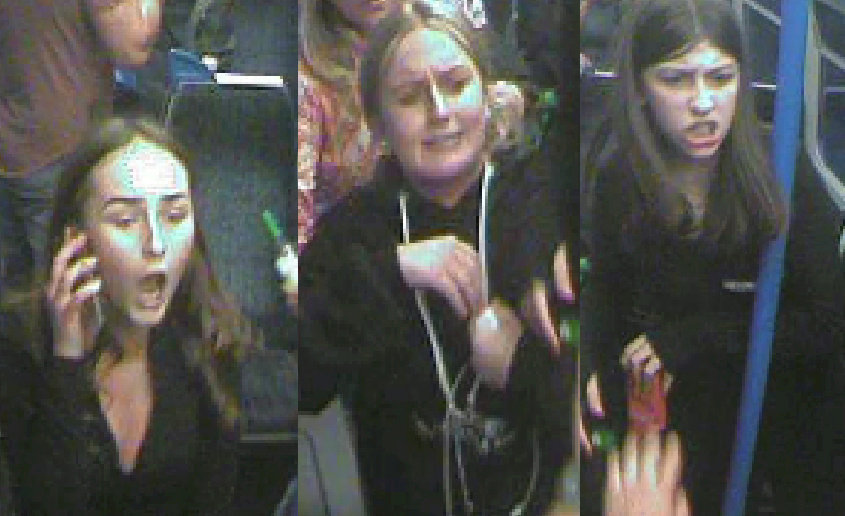Police hunt female gang after passengers attacked with bottles on busy train