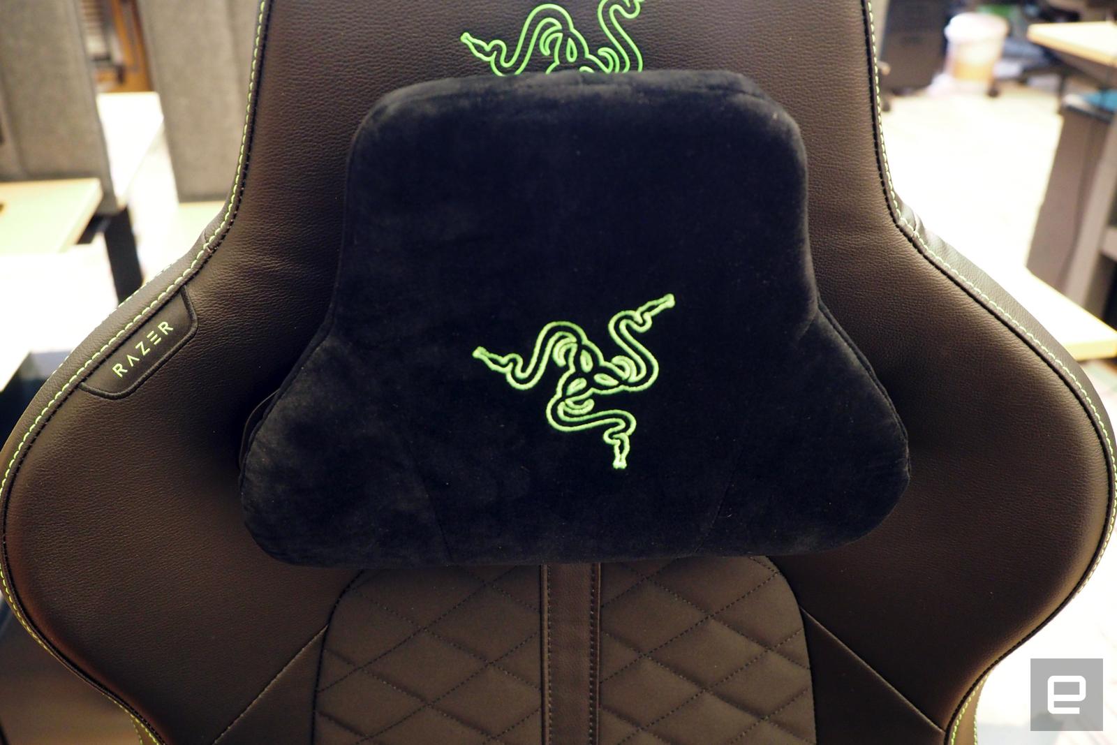 The headrest on the Razer Enki, it sucks
