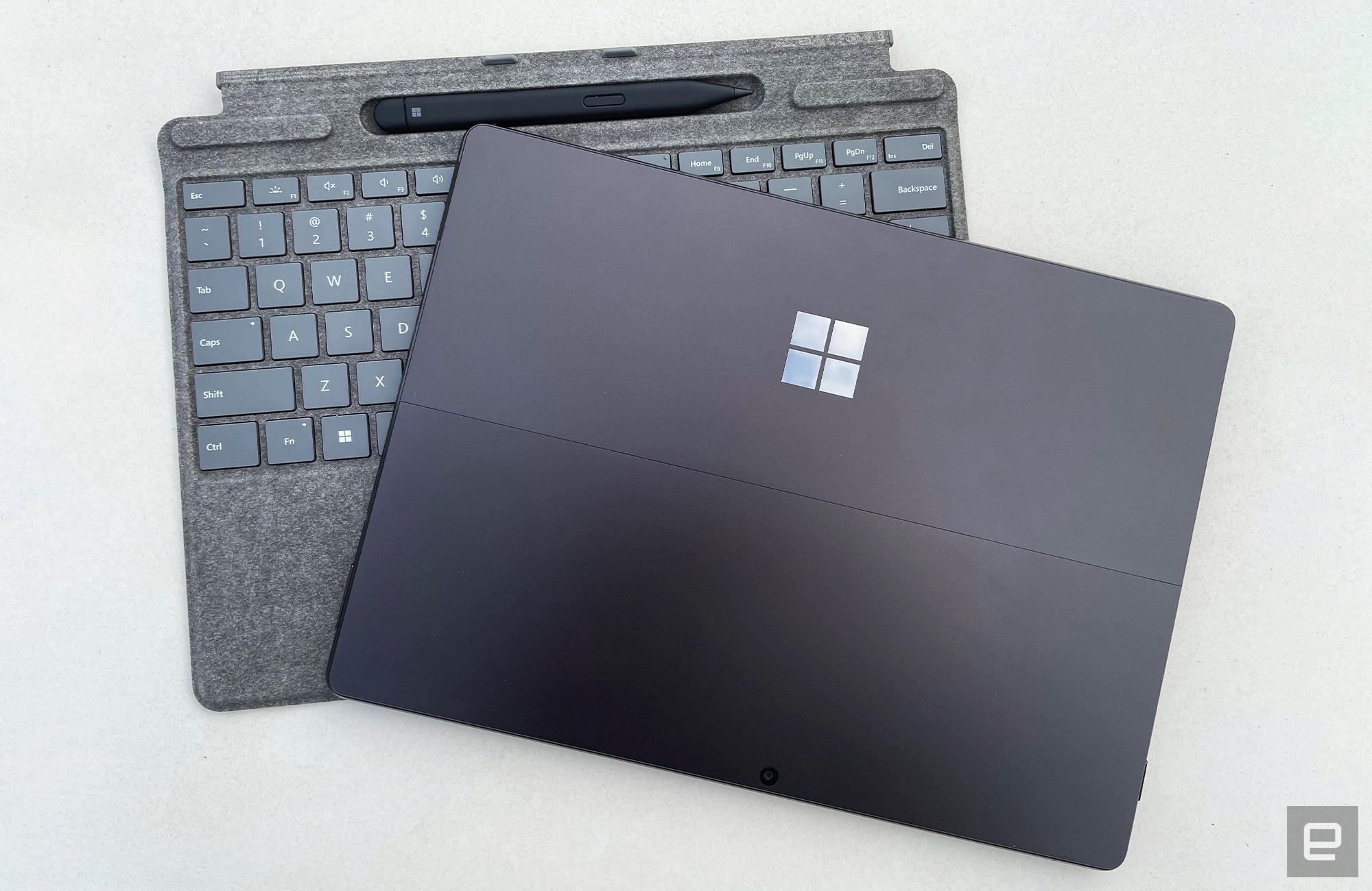 Microsoft's Surface Pro 8 and Signature Pro Keyboard accessory.
