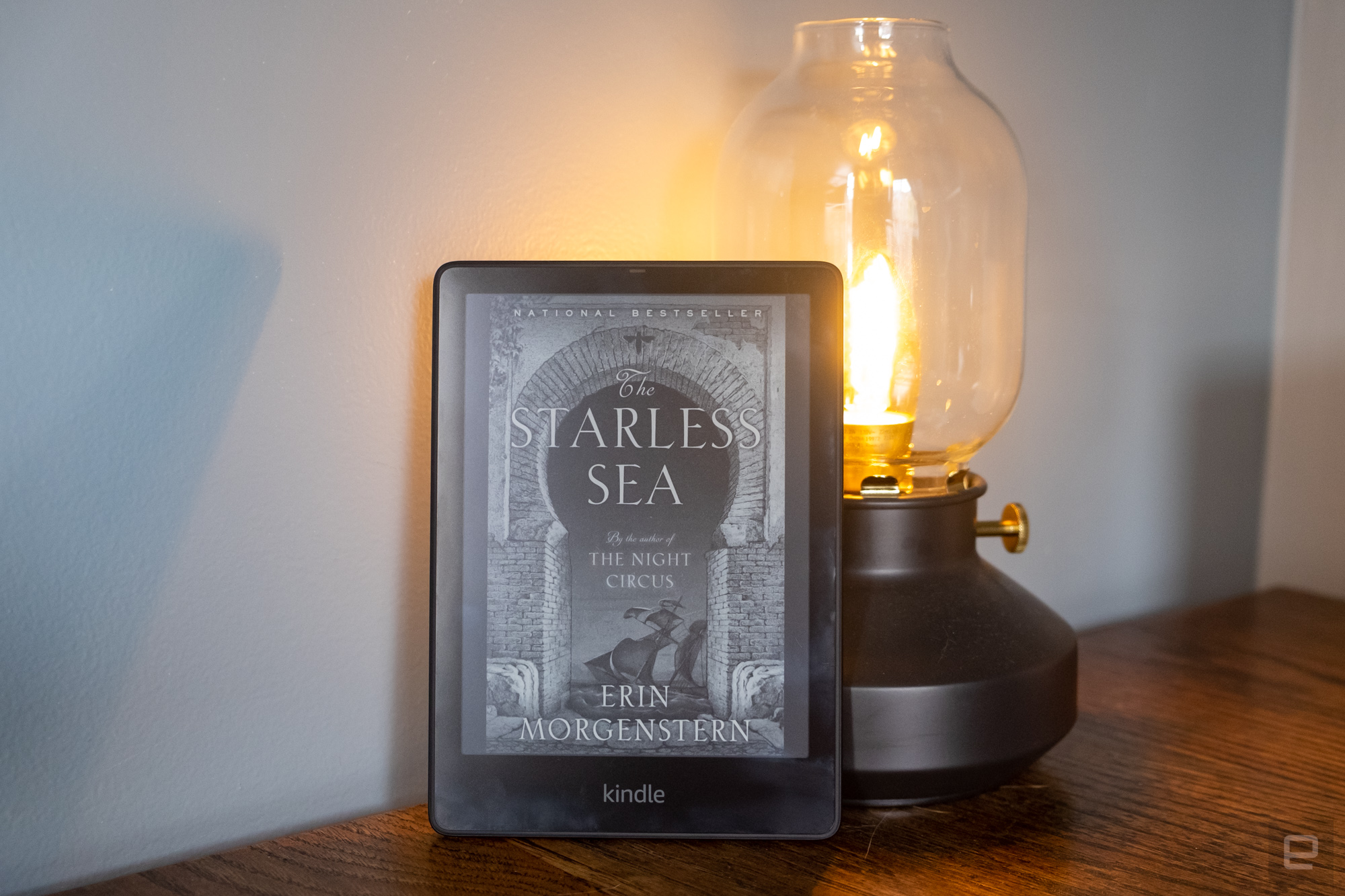 Amazon's latest Kindle Paperwhite e-reader, which was released at the end of October 2021.