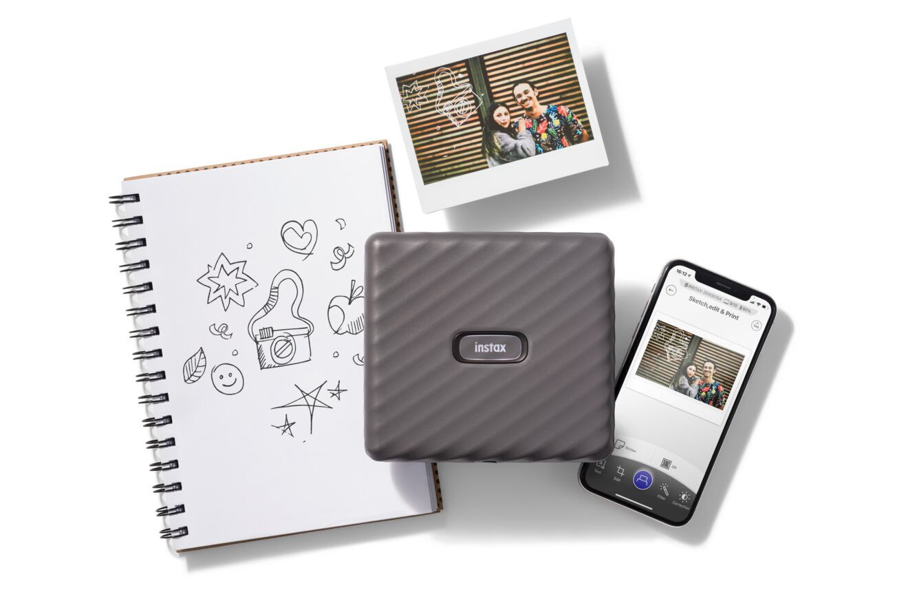 Fujifilm launches its first wide-format Instax Link smartphone printer