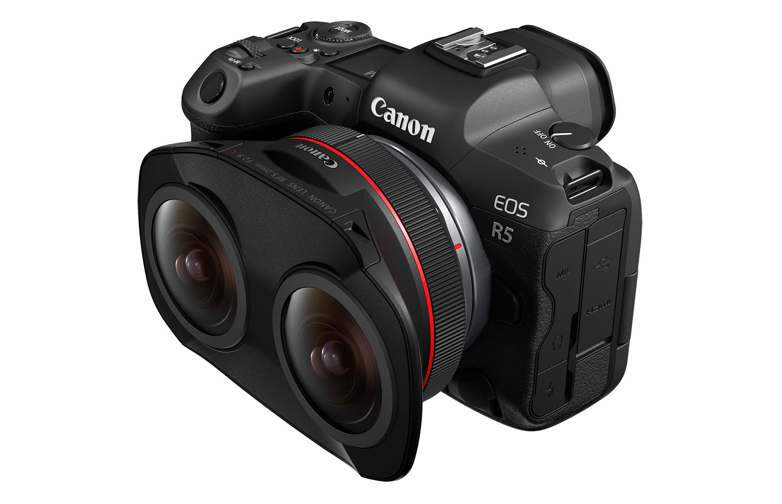 Canon created a dual fisheye lens for its new VR video system