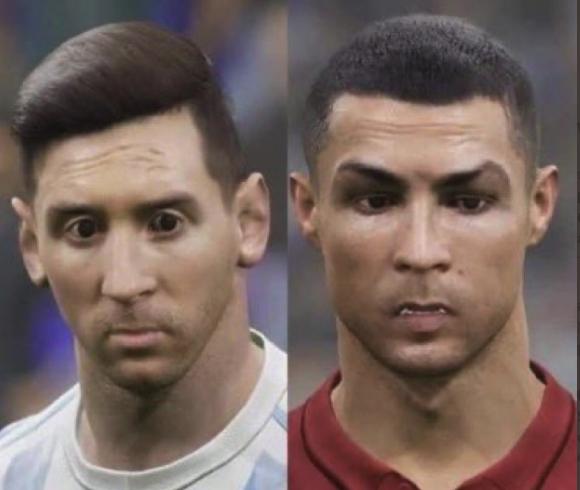 Monstruosos Messi y Ronaldo en el peor videojuego de la historia