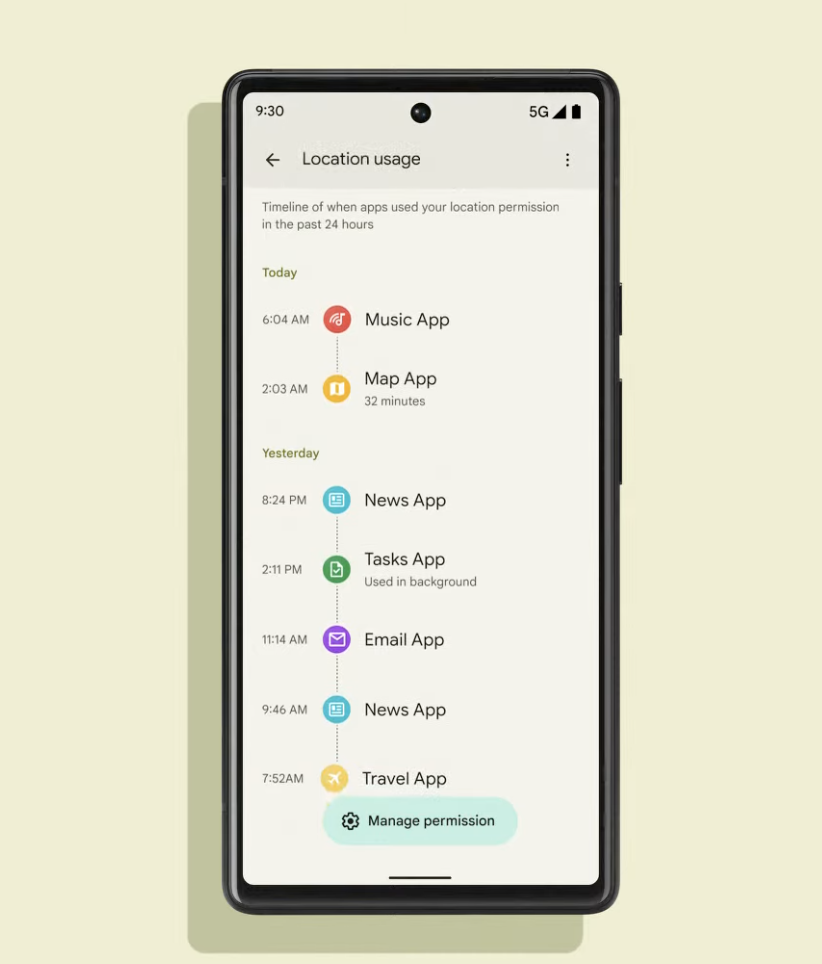 pixel 6 privacy dashboard
