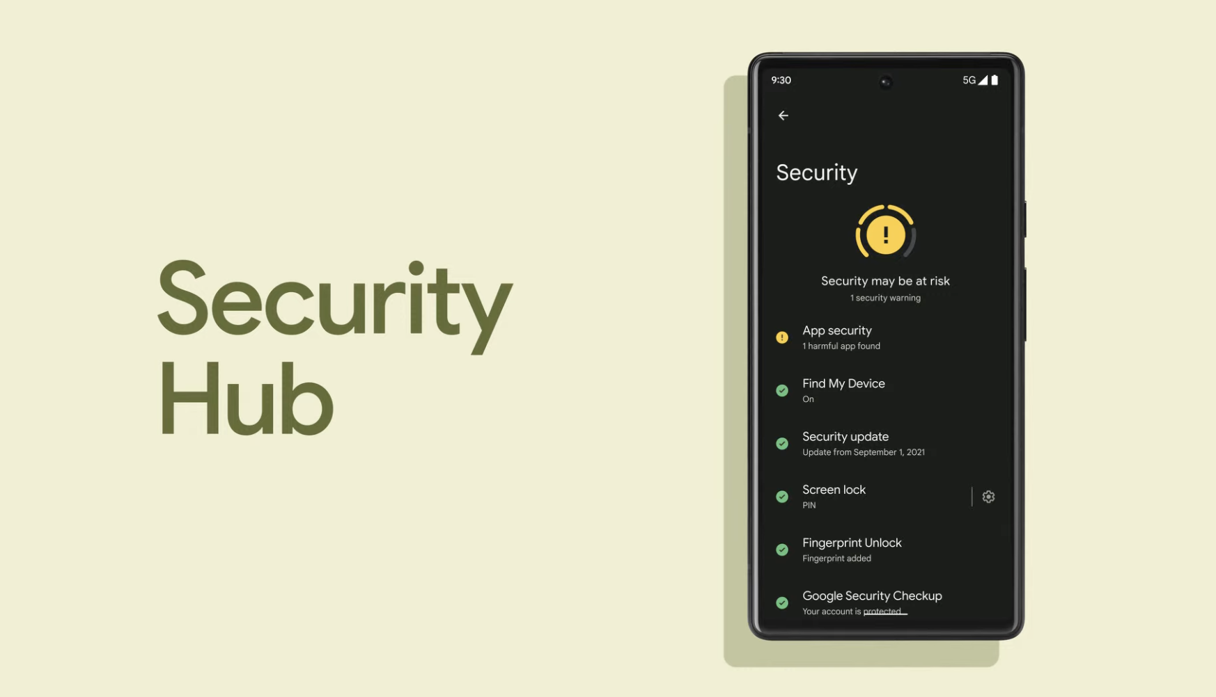 Google shows off new security hub and privacy dashboard for Pixel 6