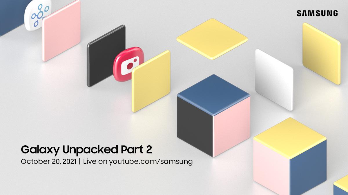 Samsung Galaxy Unpacked Part 2 online event invitation.