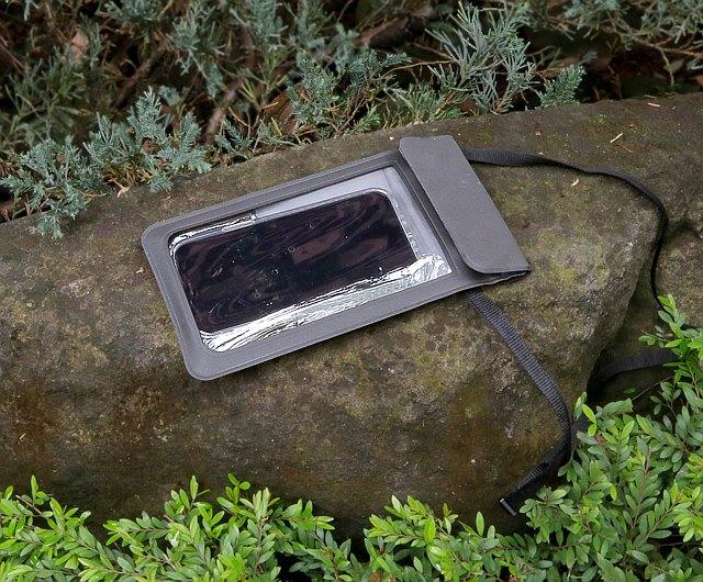 仿麂皮防水夾鏈觸控手機袋